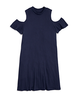 Aqua Girls ColdShoulder Shift Dress Big Kid  100 Exclusive