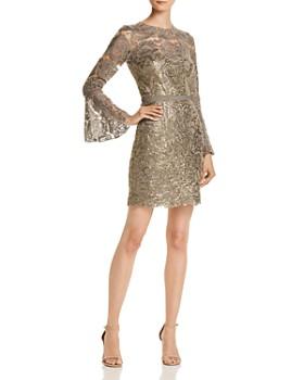 Tadashi Shoji Bell Sleeve Lace Dress