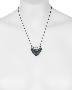 Alexis Bittar - Rounded Lucite Pendant Necklace, 16""