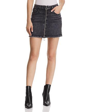 PAIGE - Aideen Denim Mini Skirt in Myra