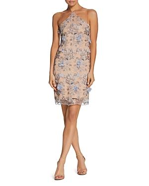 Dress the Population Lena Embellished Illusion Dress