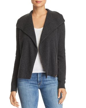 C by Bloomingdale's Cashmere Moto Cardigan - 100% Exclusive