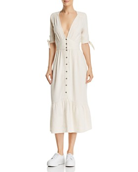 Lost and Wander - Button-Down Midi Dress