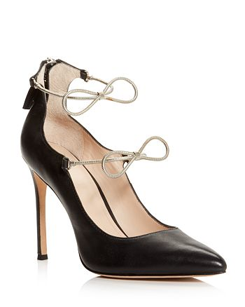 Pour La Victoire - Women's Cebelle Pointed Toe Leather High-Heel Pumps