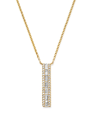 Bloomingdale's Diamond Baguette & Round Pendant Necklace in 14K Yellow Gold, 0.40 ct. t.w. - 100% Exclusive