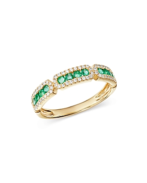 Bloomingdale's Emerald & Diamond Band in 14K Yellow Gold - 100% Exclusive