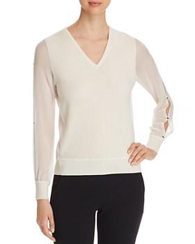 Elie Tahari - Maria Slit-Sleeve Sweater