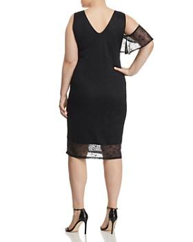 Lost Ink Plus - Asymmetric Lace Dress