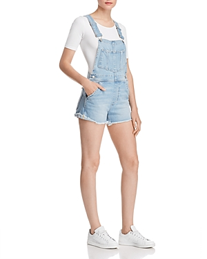 04e8f6f4a5b Joe s Jeans The Short Frayed Denim Overalls In Kellsie