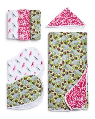 White Label Infant Girls' Paradise Cove Burpy Bibs, 2 Pack