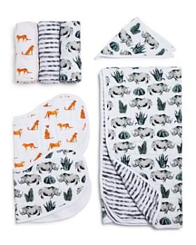 Aden and Anais - Serengeti White Label Swaddles, Bibs & Blanket