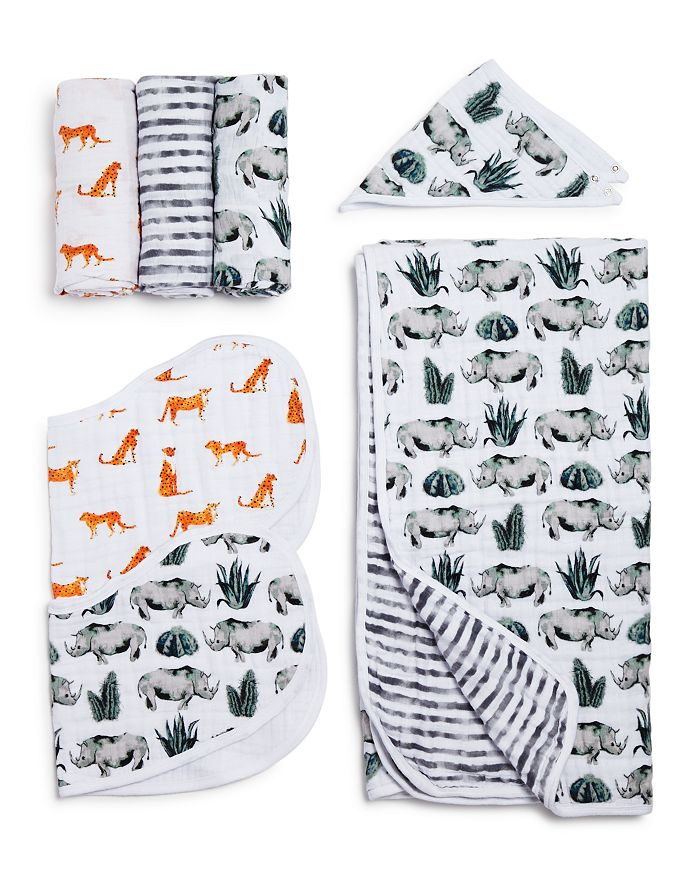 Aden and Anais - Serengeti White Label Swaddles, Bibs & Blanket