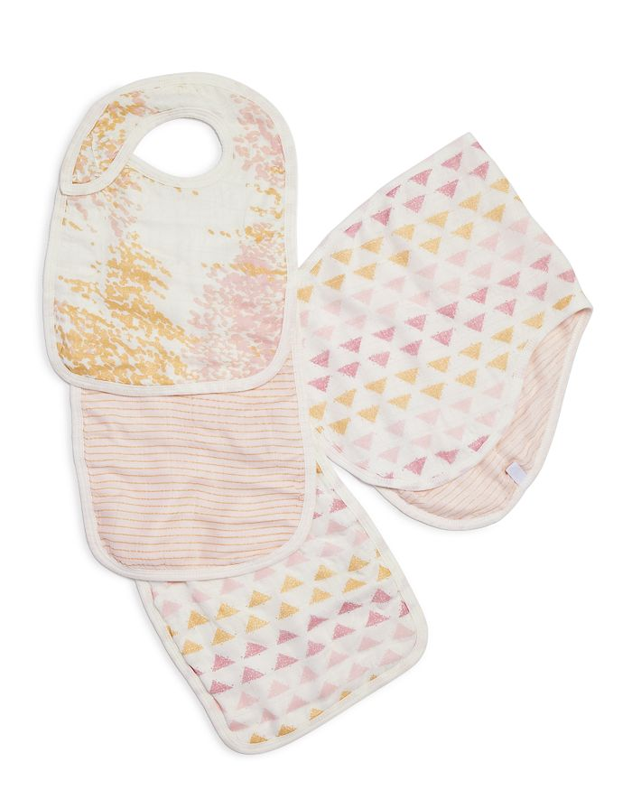 Aden and Anais - Cotton Muslin Metallic-Print Bibs