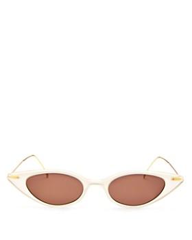 Illesteva - Women's Marianne Slim Cat Eye Sunglasses, 48mm
