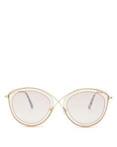 Tom Ford - Women's Sasha Mirrored Round Sunglasses, 55mm