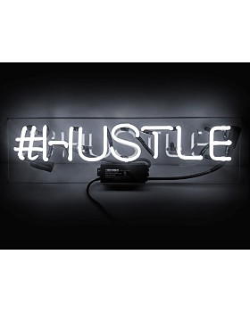 "Oliver Gal - Hustle Neon Sign, 20"" x 4"""