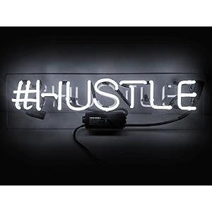 Oliver Gal Hustle Neon Sign, 20 x 4