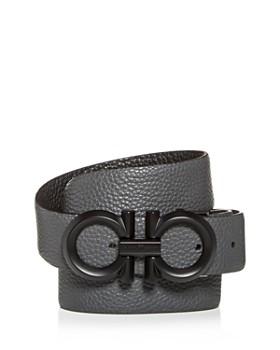 Salvatore Ferragamo - Black Buckle Reversible Leather Belt