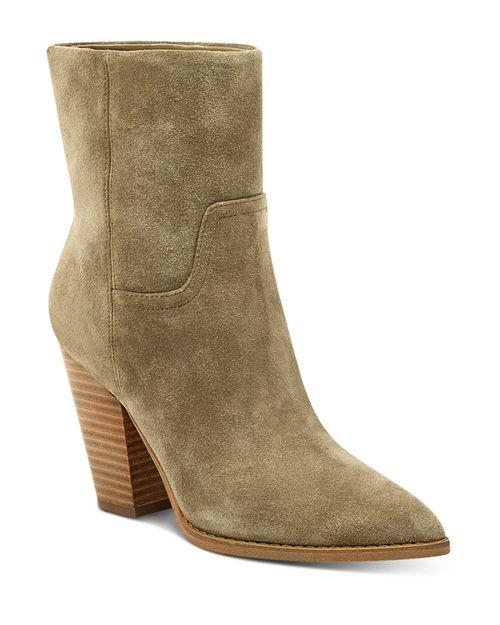Marc Fisher LTD. - Women's Devin Pointed Toe Suede High-Heel Western Booties