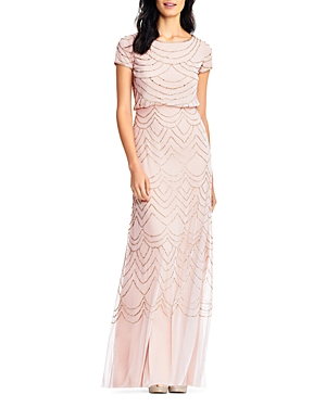 Vintage Evening Dresses and Formal Evening Gowns Adrianna Papell Beaded Blouson Gown AUD 326.63 AT vintagedancer.com
