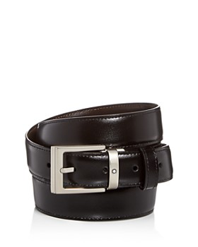 7d93b7483 Montblanc - Men s Palladium Square Buckle Reversible Leather Belt ...