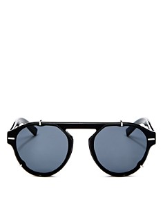 Dior - Men's Black Tie Flat Top Round Sunglasses, 62mm