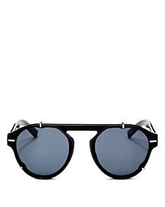 Dior - Men's Black Tie Flat Top Round Sunglasses, 62mm