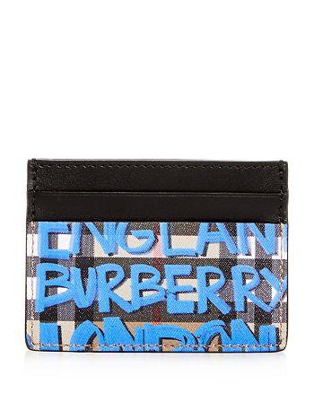 624e8cc4652a Burberry Sandon Graffiti Print Vintage Check Leather Card Case ...