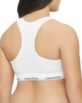 Calvin Klein - Plus Modern Cotton Unlined Racerback Bralette