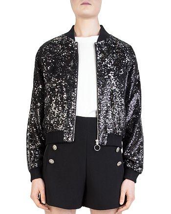 c165682e The Kooples Sequined Bomber jacket | Bloomingdale's