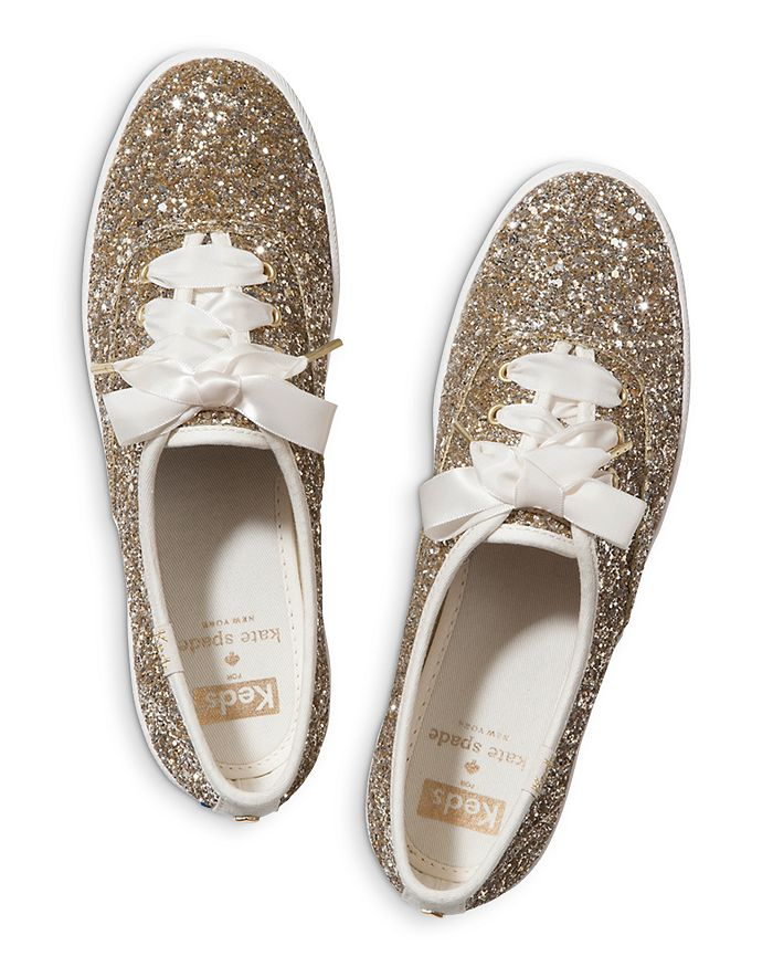 2eed9da24f4c Keds x kate spade new york Women's Glitter Lace Up Sneakers ...