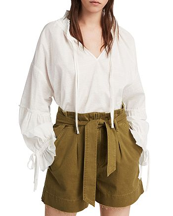 ALLSAINTS - Cala Paperbag-Waist Shorts