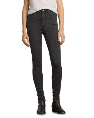 Allsaints Stilt High-Rise Skinny Jeans in Dark Gray 2800181