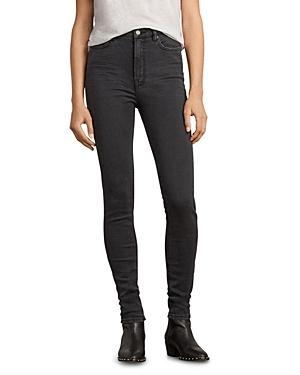 Allsaints Stilt High-Rise Skinny Jeans in Dark Gray