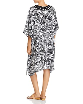 Profile by Gottex - Embroidered V-Neck Caftan Swim Cover-Up