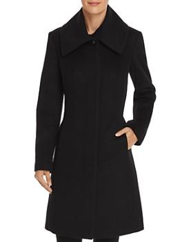 Cole Haan - Envelope Collar A-Line Coat