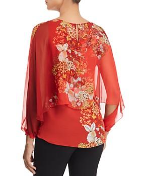 Elie Tahari - Malika Overlay Floral Silk Top