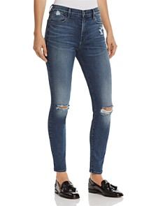 FRAME - Le High Skinny Distressed Jeans in Magellan