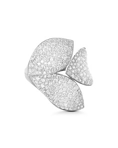 Pasquale Bruni 18K White Gold Secret Garden Diamond Three-Petal Ring - Bloomingdale's_0