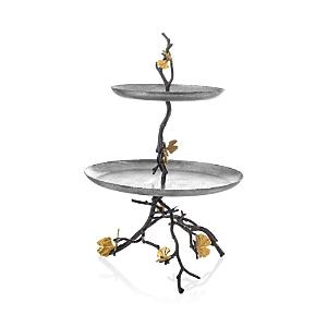 Michael Aram Butterfly Ginkgo 2-Tier Etagere