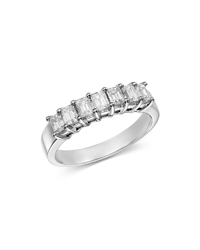 Bloomingdale's - Emerald-Cut Diamond Ring in 14K White Gold, 1.0 ct. t.w. - 100% Exclusive
