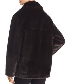 Kendall + Kylie - Oversized Faux Mink Moto Jacket