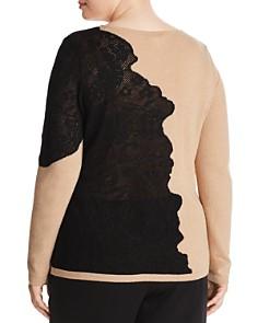 Marina Rinaldi - Arabesco Lace-Overlay Sweater