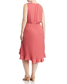 VINCE CAMUTO Plus - High/Low Ruffle Dress