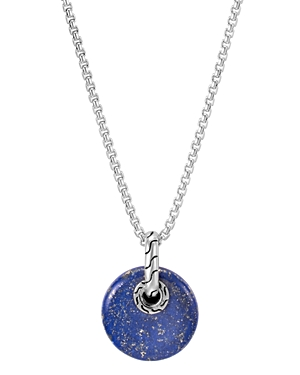 John Hardy Sterling Silver Classic Chain Lapis Lazuli Pendant Necklace