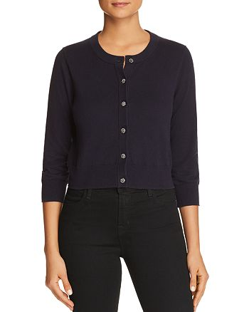 kate spade new york - Rhinestone-Button Cotton Cardigan