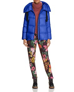 Moncler - Serin Jacket, Turtleneck Sweater & Floral Print Trousers