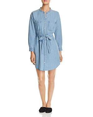 Eileen Fisher Chambray Belted Shirt Dress