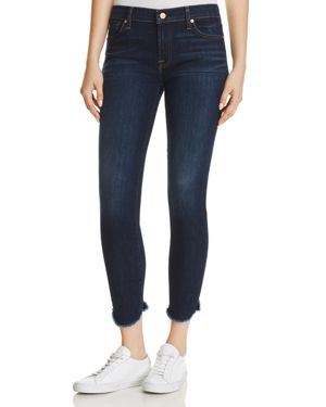 7 For All Mankind Ankle Skinny Jeans in Midnight Moon