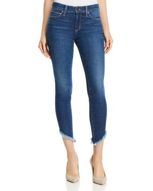 The Icon Ankle Skinny Jeans With Diagonal Fray Hem, Joni